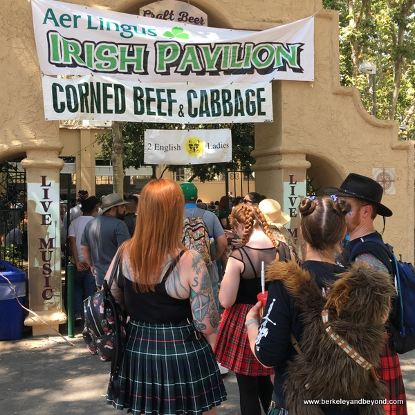 popular Irish Pavilion food area at the 2018 Scottish Highland Gathering & Games in Pleasanton, California