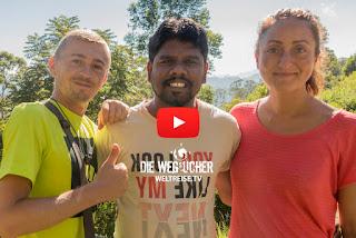 Unfall in Sri Lanka auf Autobahn. Krasses Erlebnis auf Weltreise. Die Wegsucher Arkadij und Katja