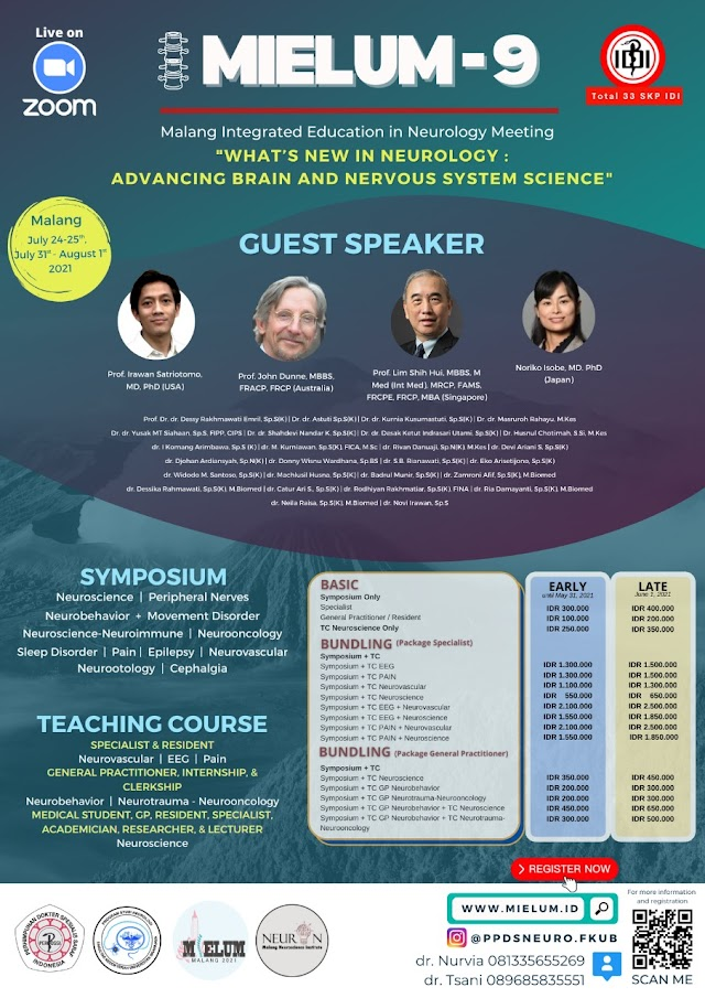 Total 33 SKP IDI- MIELUM (Malang Integrated Education in Neurology Meeting) What's New in Neurology : Advancing Brain and Nervous System Science