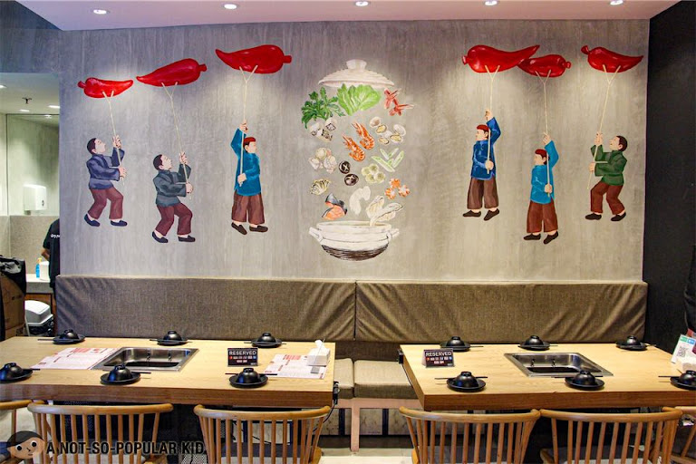 Interior of One Pot Restaurant in Shore Residences