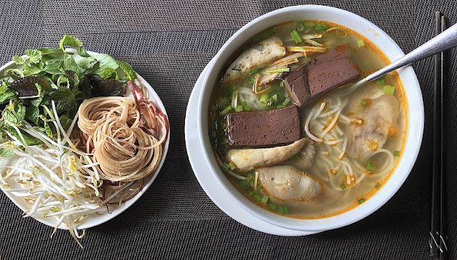 Hue beef noodle soup (Bun bo Hue)