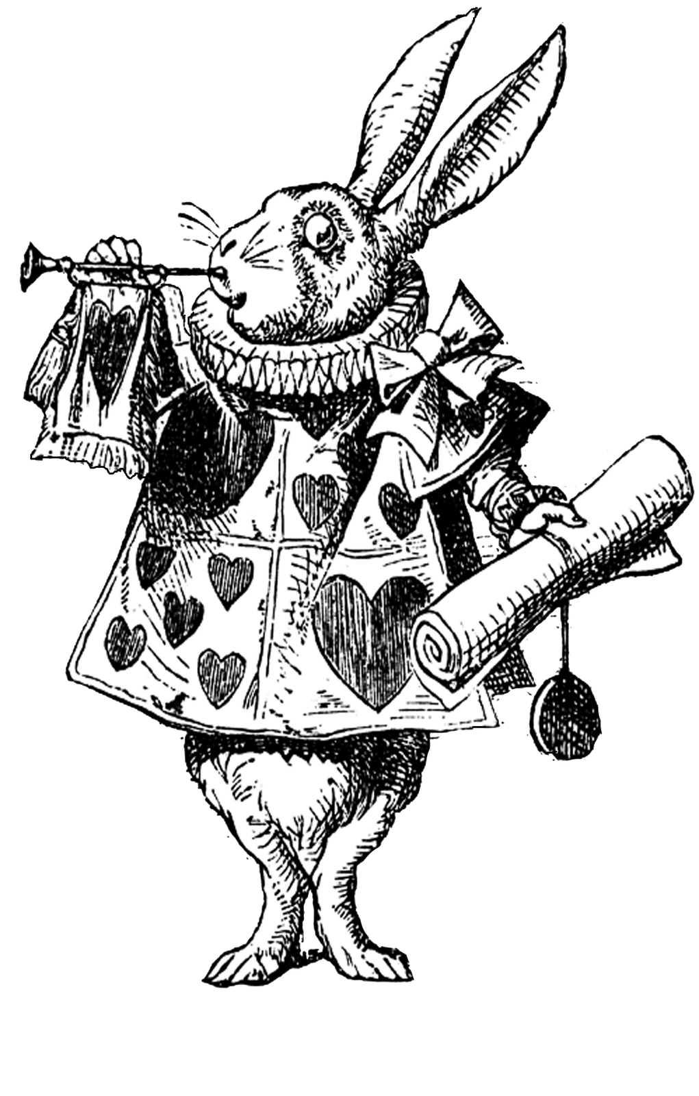 vintage clip art alice in wonderland - photo #11