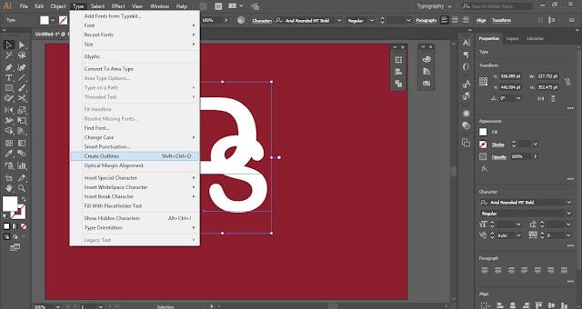 Overlap Letters in Adobe Illustrator