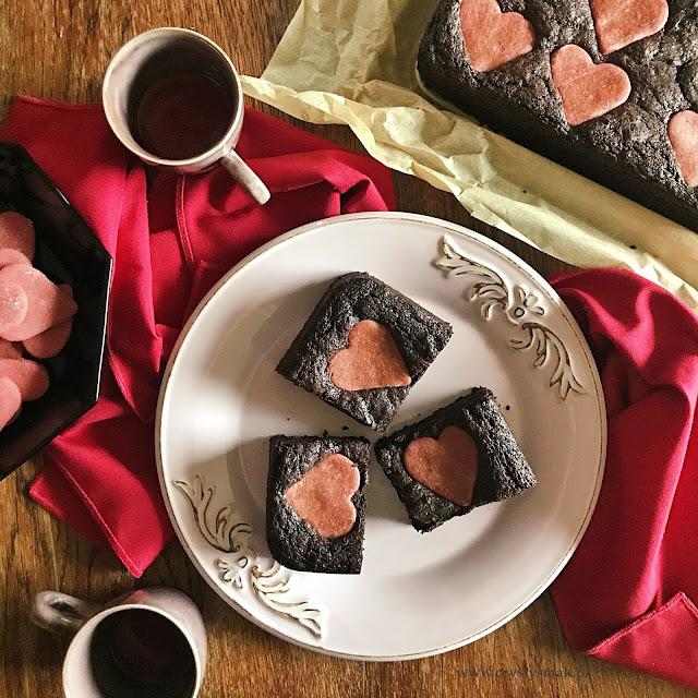Walentynkowe brownie