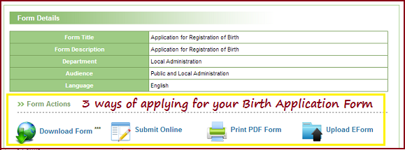 how to apply for a birth certificate