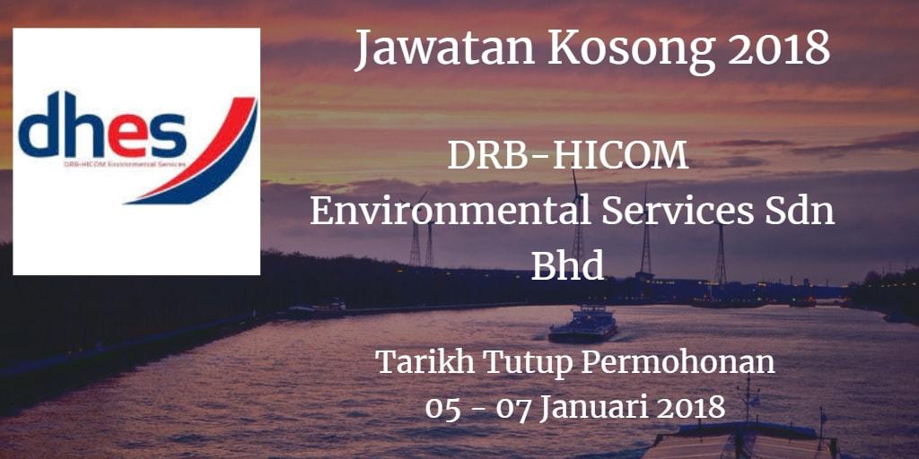 Jawatan Kosong DRB-HICOM Environmental Services Sdn Bhd 05 - 07 Januari 2018