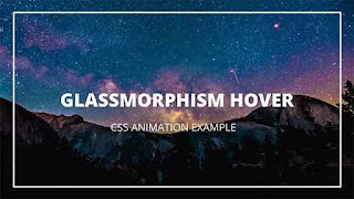 CSS Hover Animation with Glassmorphism Effect