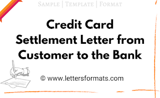 how to write a letter to bank for credit card settlement