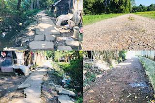 বড়লেখা পৌরসভার ছয় রাস্তার বেহাল, জনদুর্ভোগ চরমে