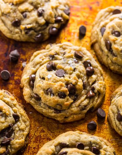 Vegan Chocolate Chip Cookies #dessert #chocolate