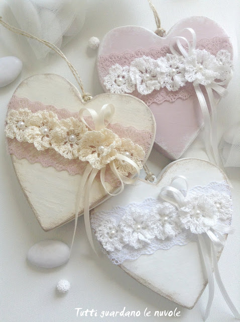 Super Tutti guardano le nuvole: Shabby Chic Wedding Favor AB09