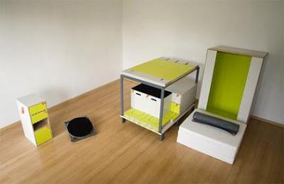 diseño minimalista de recamara para optimizar espacio
