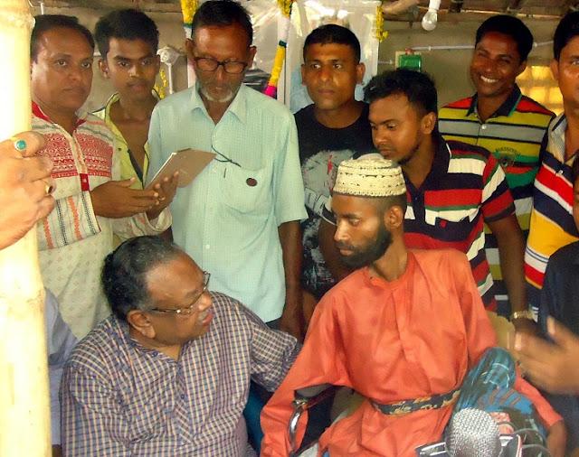 মেধাবী প্রতিবন্ধী খায়রুলের পাশে এমপি রুহুল