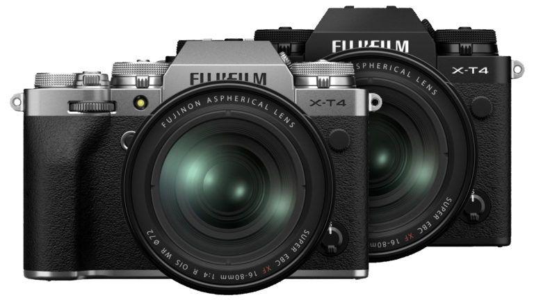 Fujifilm X-T4 серебристого и черного цвета