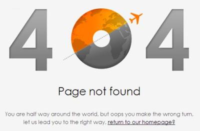 404 ERROR webpage