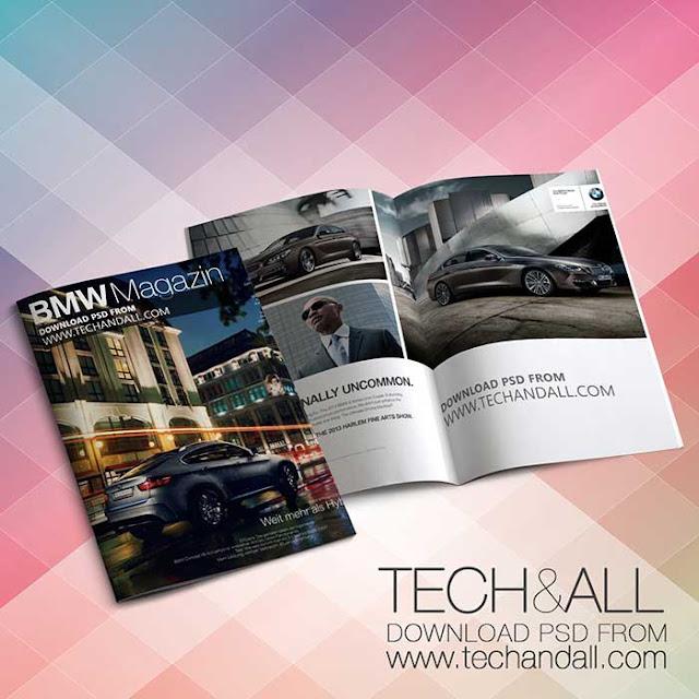 Magazine Cover Mockup PSD
