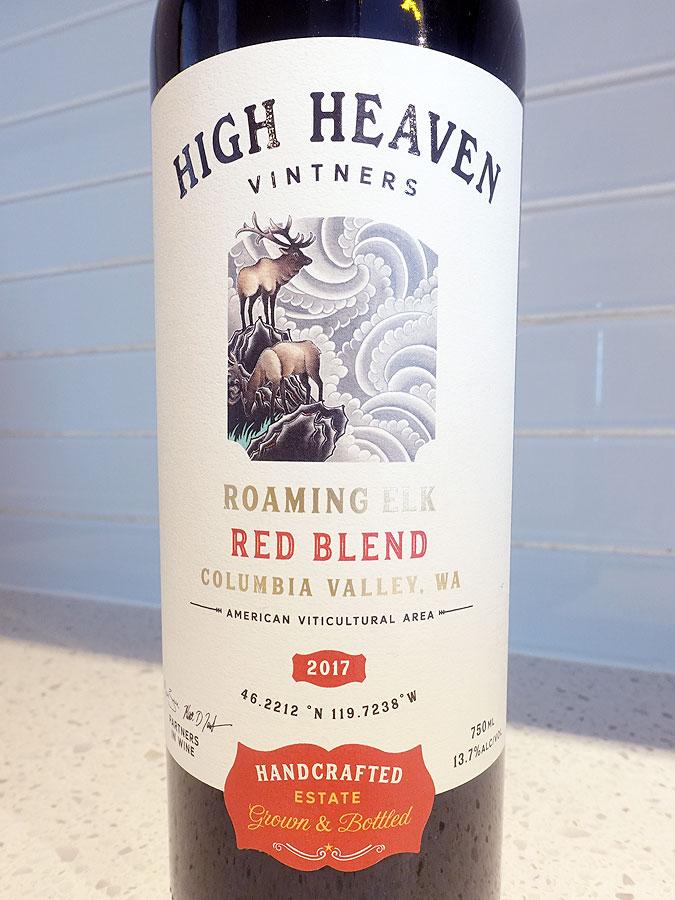 High Heaven Roaming Elk Red Blend 2017 (88 pts)