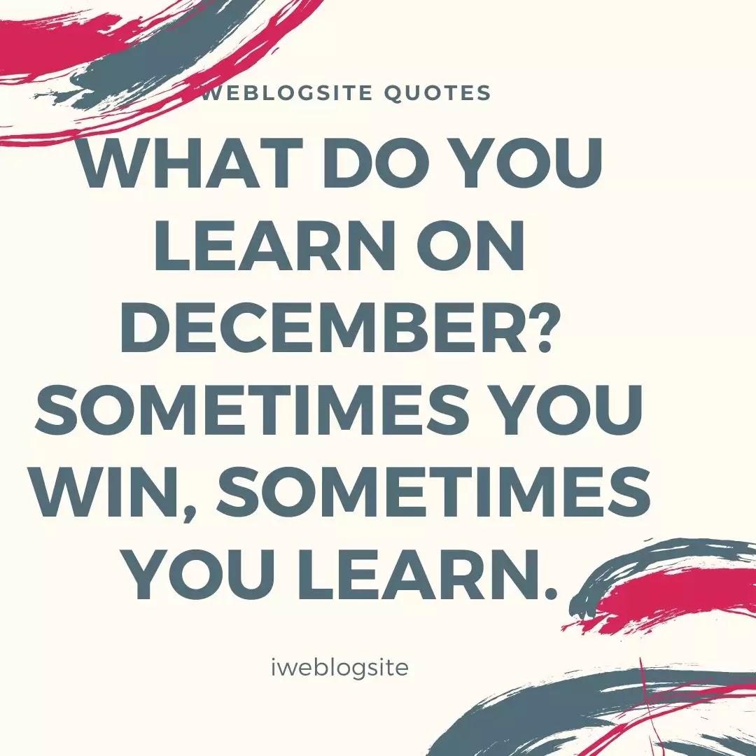 december quote