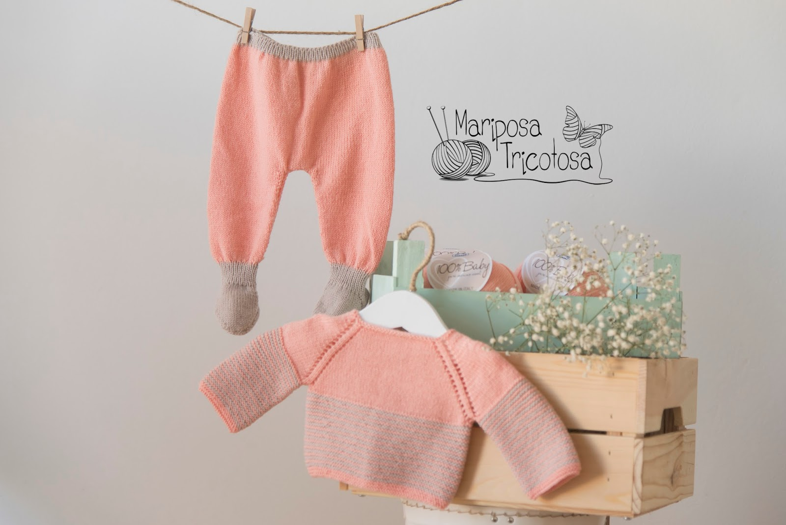 mariposa tricotosa: Kit conjunto de jersey y polainas