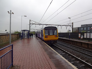 Pacer Railbus at Ashburys railway station in Openshaw, Manchester