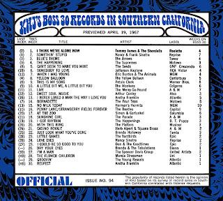 KHJ Boss 30 No. 94 - April 19, 1967