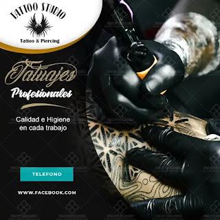 plantilla de anuncio para promocionar y buscar trabajo de tatuador