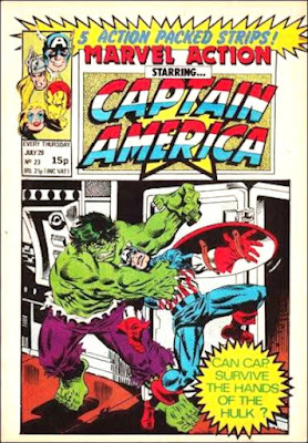 Marvel Action starring Captain America #23, the Hulk