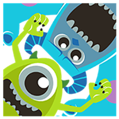 Monsters, Inc. Pop-Up Stickers