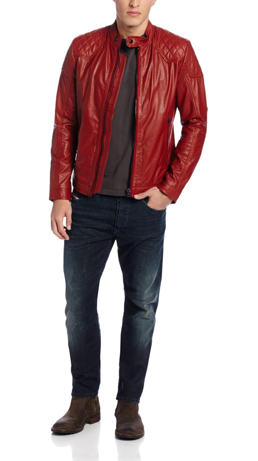 Red leather jackets for men