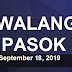 #WalangPasok: Class Suspensions For September 18