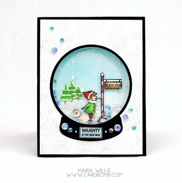 #cardbomb, #mariawillis, #heroarts, Hero Arts, Naughty Elves, #christmas, #cards, #cardmaker, #cardmaking, #handmade, #handmadecards, #art, #craft, create, #diy, ink blending, #shaker card, #video, #videotutorial,