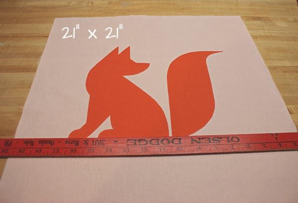 Easy DIY Fox Applique Toss Pillow