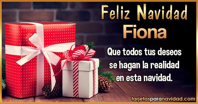 Feliz Navidad Fiona