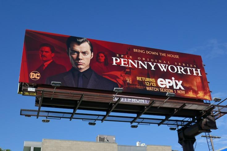 Pennyworth season 2 billboard