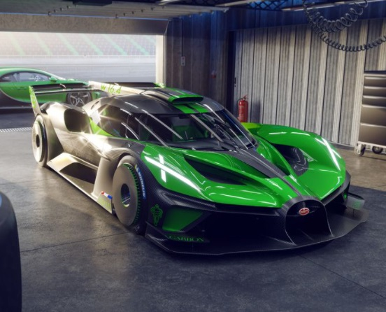 Tampilan Depan Bugatti Bolide