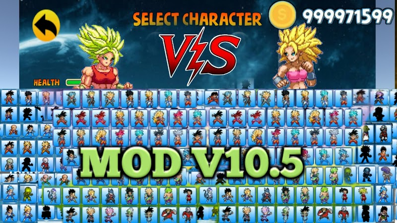 Power Warriors 10.5 MOD APK with Unlimited Coins