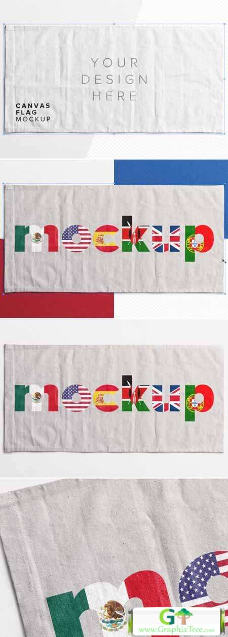 Flag Canvas Mockup 368271298
