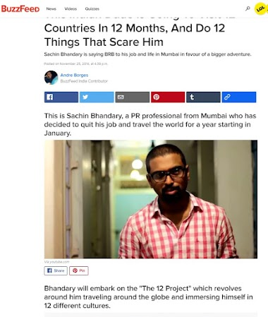 Buzzfeed - This Indian Dude Is Going To Visit 12 Countries In 12 Months, And Do 12 Things That Scare Him