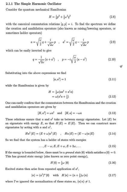 Equivalence of Hamiltonian & creation/annihilation operators (Source: David Tong, QFT, 2007)
