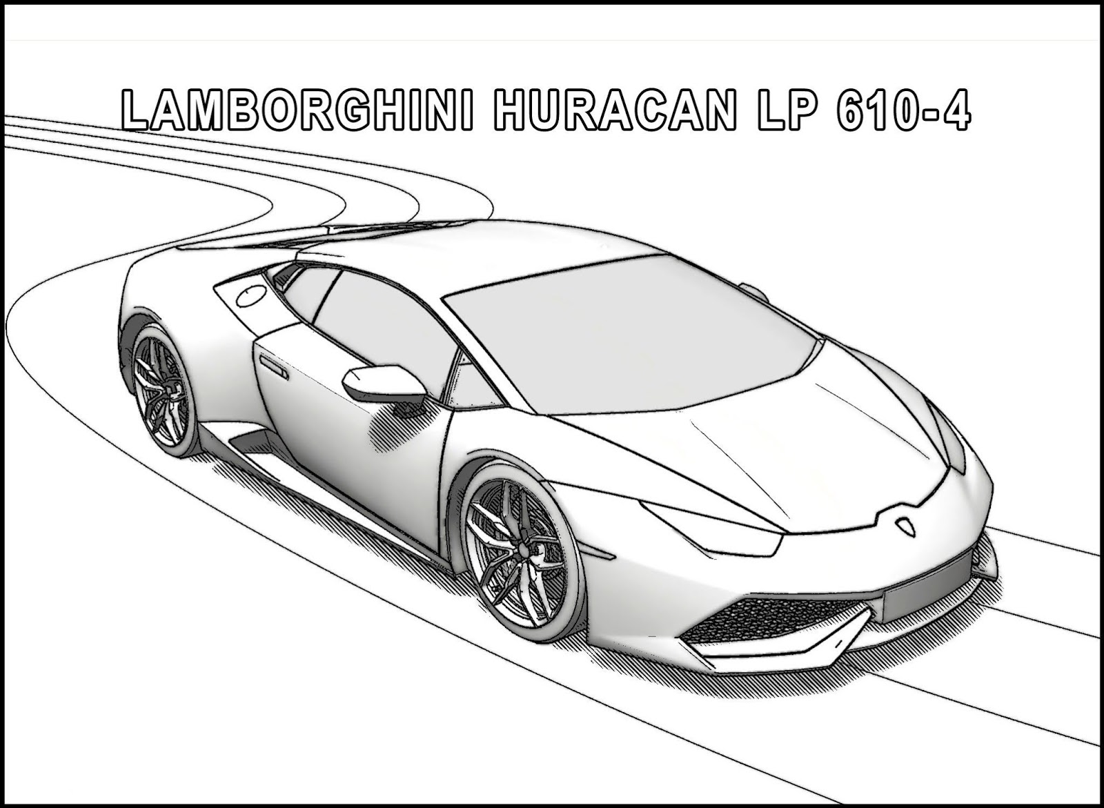 Click to see printable version of Lamborghini Huracan LP 610 4 Coloring page