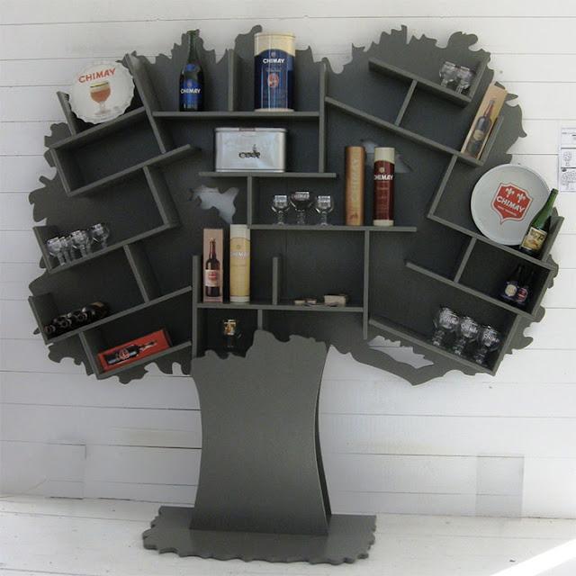Rak Buku Pohon Tess