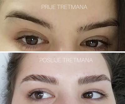 brow lamination fotografije prije i poslije