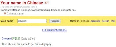 Come tradurre il tuo nome in cinese