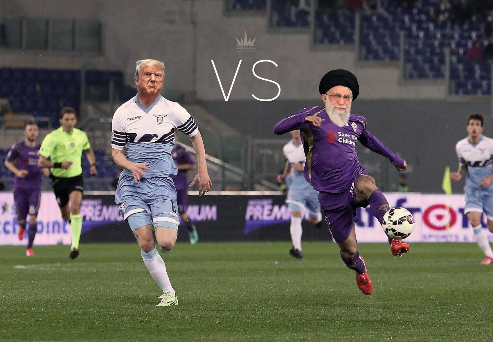 Trump vs Ali Khamenei - Football