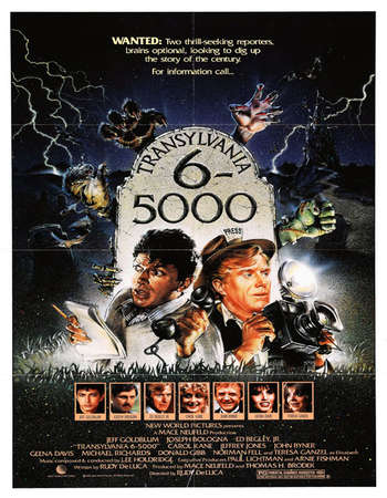 Poster Of Transylvania 6-5000 1985 Dual Audio 300MB DVDRip 576p ESubs - UNCUT Free Download Watch Online Worldfree4u