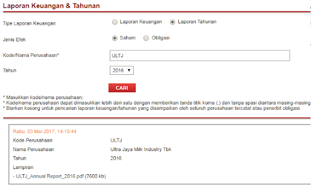 Website (BEI) Bursa Efek Indonesia