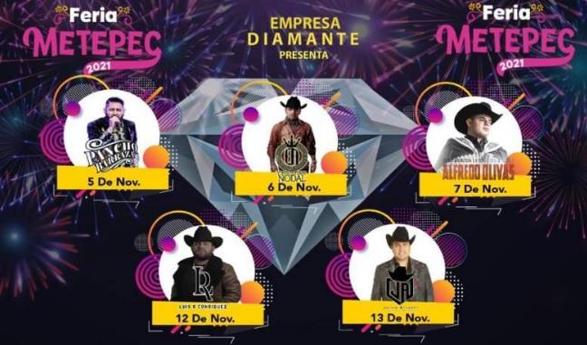 Palenque Feria Metepec Conciertos 2021