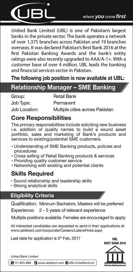 Jobs in UBL Bank