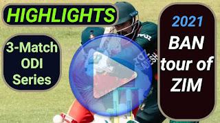 Bangladesh tour of Zimbabwe 3-Match ODI Series 2021