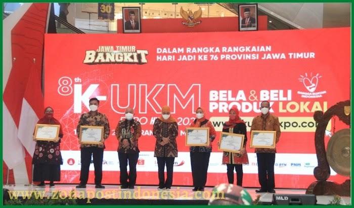 Dinas Koperasi dan UKM Provinsi Jawa Timur Menggelar Acara Penyerahan Penghargaan Lomba Perkoprasian dan UKM Berprestasi Tahun 2021